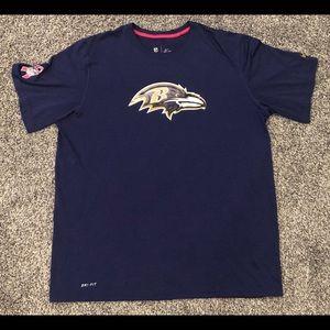 Nike Baltimore Ravens Brest Cancer Football Shirt